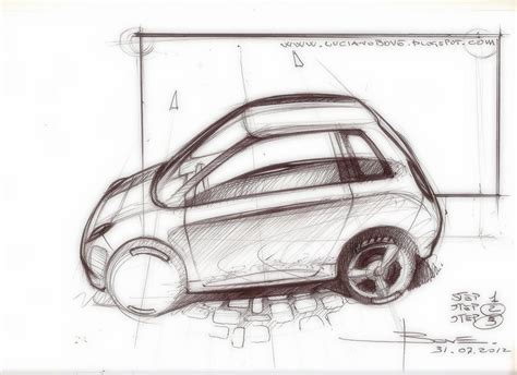 sketchbook car tutorial car sketch tutorial top perspective by luciano bove www