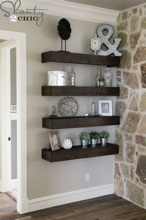 What To Put On Living Room Shelves by Diy Floating Shelves For My Living Room Shanty 2 Chic