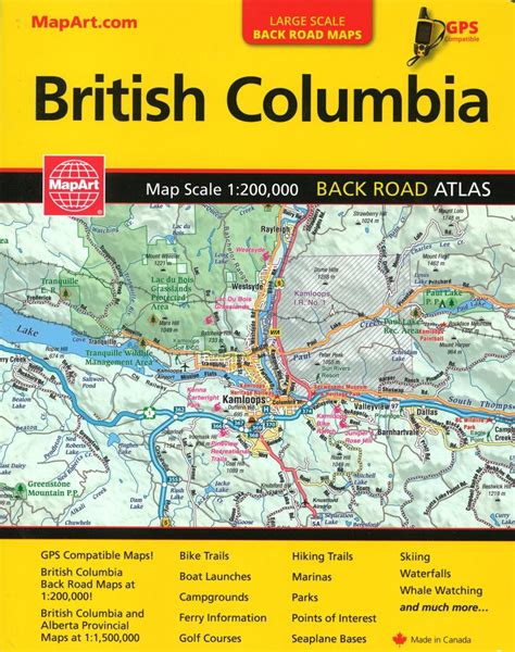 atlantic canada back road atlas books columbia back road atlas by canadian cartographics