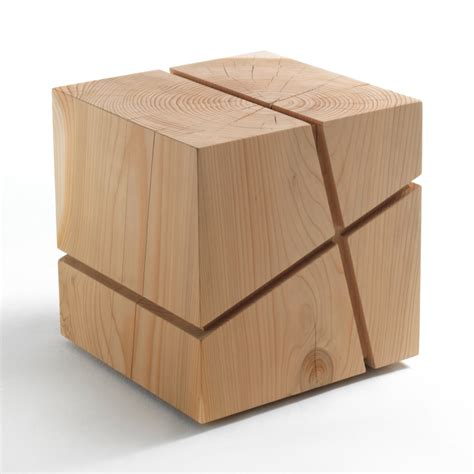 Solid Wood Stools by Solid Wood Low Stool Collection From Riva 1920