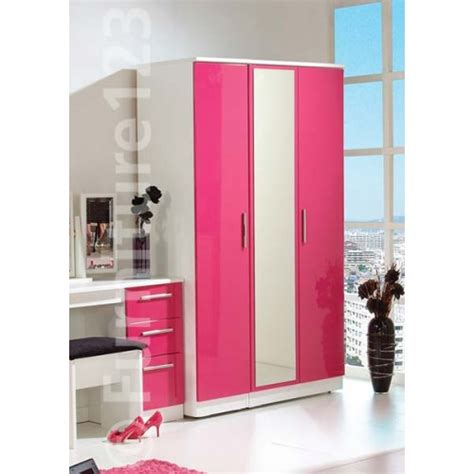 Pink Wardrobe by 3 Door Wardrobe Pink