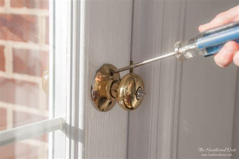 How To Put Together A Door Knob by Knob Snob Aka Diy Painted Knobs Heathered Nest Rule