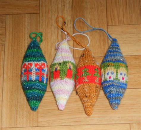 knitted christmas ornament patterns a knitting blog