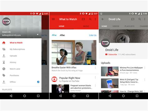 design inspiration youtube material design inspiration android apps using material