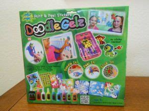ideen wandfarbe 5317 doodle gelz paint peel stickers 20 set non toxic