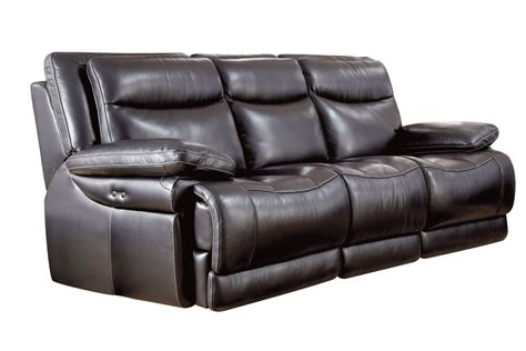 reclinable sofa jasper leather power reclining sofa at gardner white