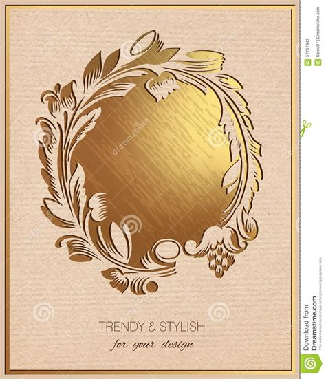 invitation card design gold invitation card with gold floral ornament template frame