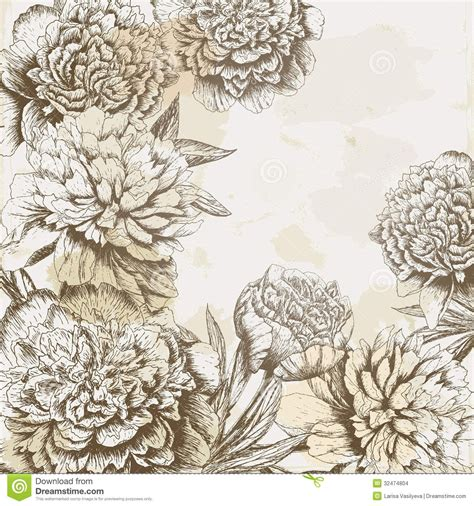 flower background tattoo designs vintage peony background www pixshark images