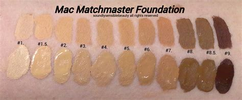 mac foundation colors mac matchmaster foundation review swatches of shades