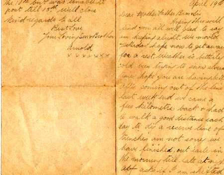 Letter Archer the regiment ww1 remembrance photos