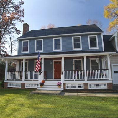 colonial style homes with front porch