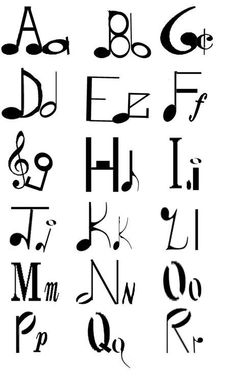 theme song looks like we made it music alphabet clipart 31