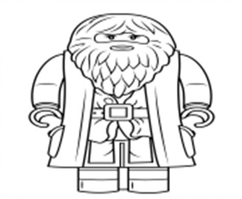 lego rubeus hagrid minifigure coloring page free lego harry potter coloring pages color online free printable
