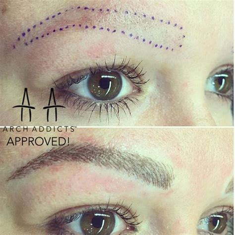 tattoo eyebrows 21 best semi permanent eyebrow hairstroke tattoo images on