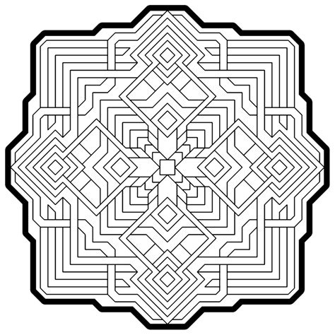 many geometric pattern coloring pages for adults