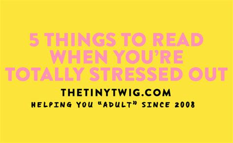 5 books to read when you re stressed out the tiny twig