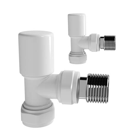bathroom valves modern angled white radiator valves bathroom rad heated towel rail tap ra31a ebay