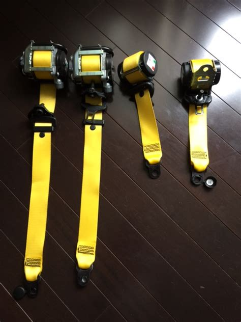 yellow car seat belts fs porsche 991 yellow seat belts front and back
