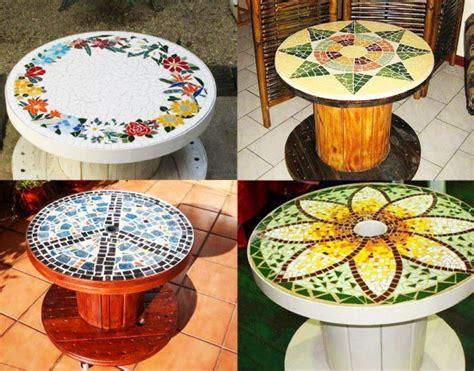 idee tavoli fai da te fai da te con bobine di legno 30 idee per il riciclo
