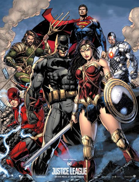 Poster Justice League Aquaman 21 Ukuran 60x90cm Justice League Poster Comic Version By