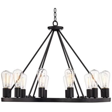 Black Circle Chandelier 28 Quot Wide Black Chandelier