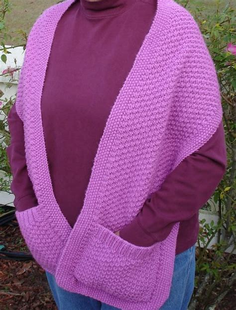 how to knit a pocket free crochet pattern shawl with pockets dancox for