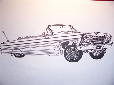 Lowrider Coloring Pages free coloring pages of low rider cars
