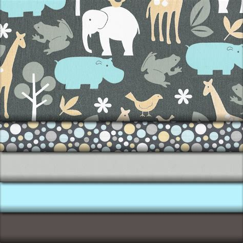 bedding fabric gray zoology fabric collection carousel designs