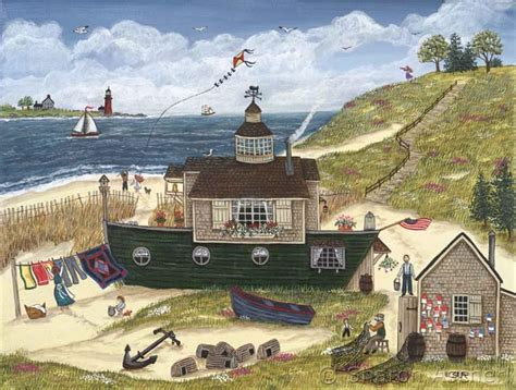 home is where you make it american folk painting by