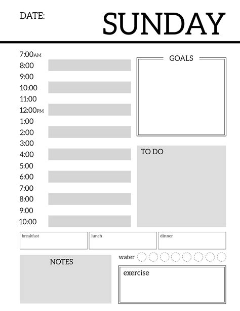 for printable daily planner printable template sheets paper trail design