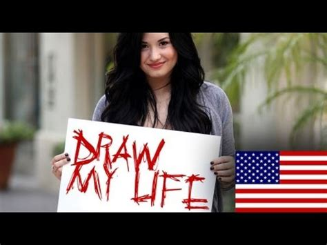 biography of demi lovato in english draw my life demi lovato english youtube