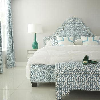 teal upholstered headboard teal scalloped headboard bed
