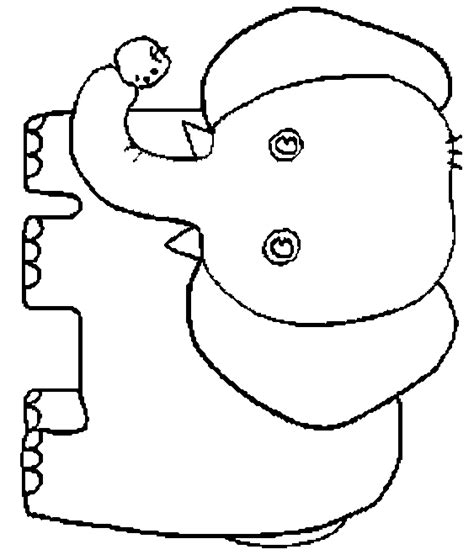 coloring page for elmer the elephant elmer elephant colouring template best elephant 2017