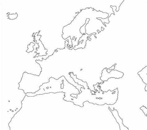 blank outline maps education place printable blank map of europe worksheet pdf