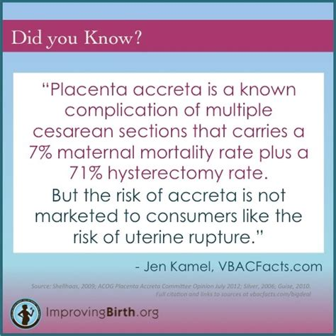 vbac vs repeat c section 17 best images about placenta accreta on pinterest
