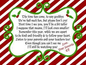 Elf On The Shelf Goodbye Letter » Home Design 2017