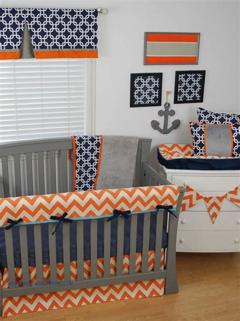 orange and navy bedding 1000 images about zig zag chevrons in the nursery on pinterest dust ruffle chevron