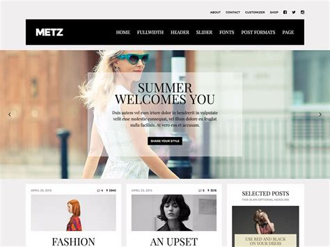 clothing themes for wordpress 30 best fashion blog magazine wordpress themes 2018
