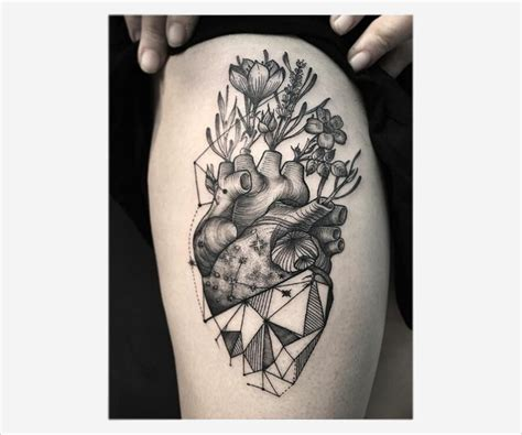geometric heart tattoo 15 geometric tattoos free premium templates