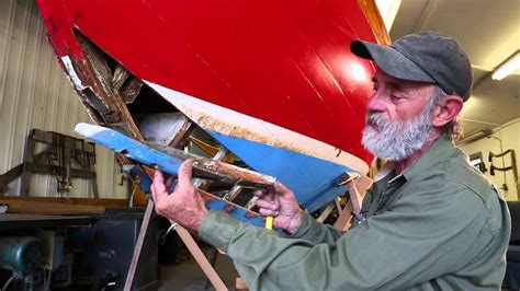 Part 1   Wooden Boat Building   Reparing a leak on a Herreshoff 12 1/2   YouTube