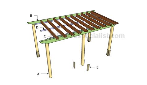how to build an attached pergola building an attached pergola howtospecialist how to build step by step diy plans