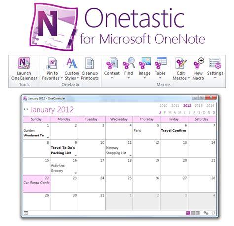 Onenote 2016 Calendar Template