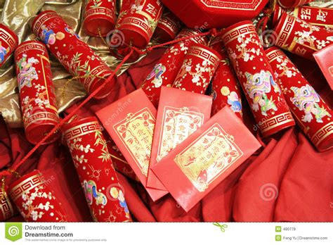 new year celebration envelopes celebration firecrackers and envelope stock