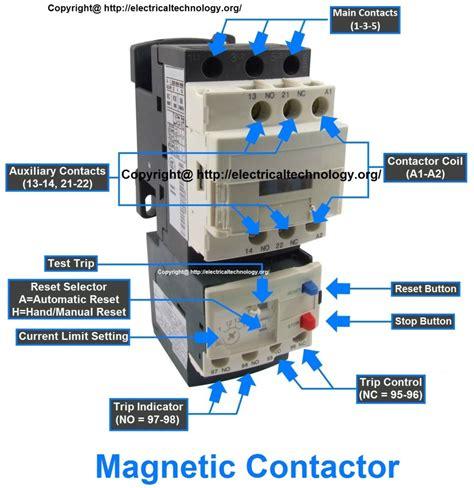 motor starter coil diagram wiring diagram with description
