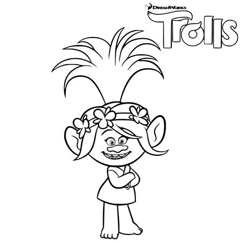 coloring pages of trolls trolls movie coloring pages best coloring pages for kids