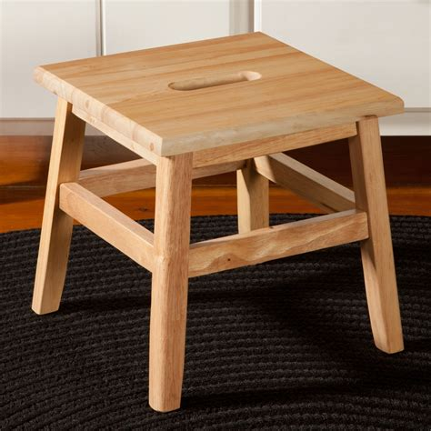 bench footstool 12 quot wooden footstool with handle sturbridge yankee workshop