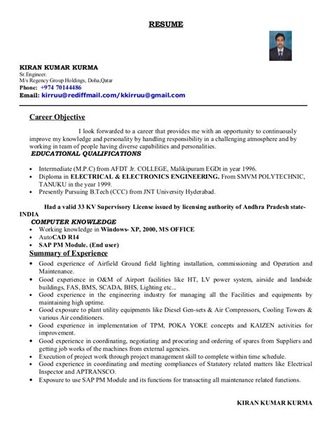 resume format for hotel industry in india kiran cv