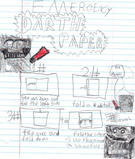 How To Fold Darth Paper - sf matthew s instrux for emergency origami darth paper