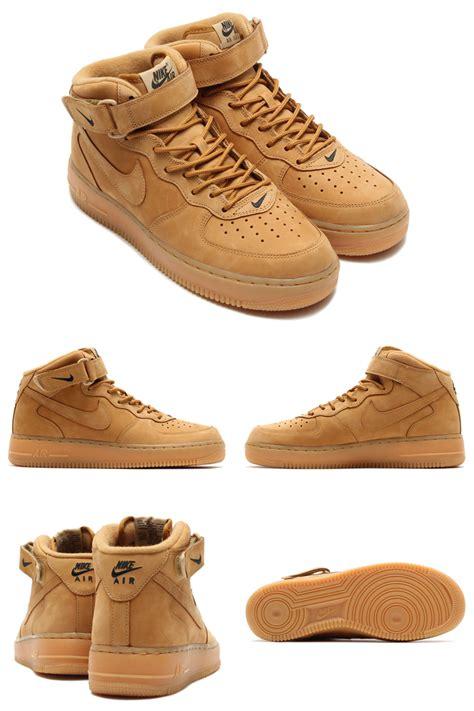 Nike 1 Mid Flax Premium Originalsepatu Nike One Brown nike air 1 mid 07 premium flax chaussure nike free run