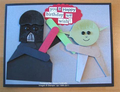 Starwars Birthday Card Star Wars Punch Art Birthday Card Sting With Karen